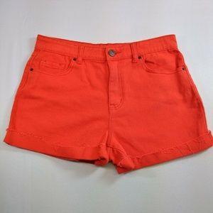 BDG Urban Outfitters Womens 31 Shorts Orange Denim